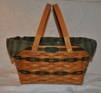 LONGABERGER 1996 Traditions Collection Community Basket Liner & Protector