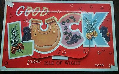 """Isle of Wight- Valentine's """"Mail Novelty"""" - 12 View - Posted 1962, Stamped"""