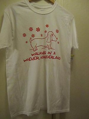 Christmas Dachshund Dog Weiner Wonderland Christmas NEW Holiday Shirt