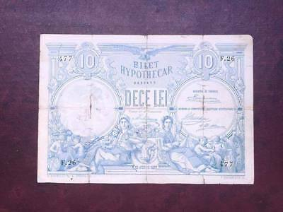 10 LEI 1877 Romania NOT CANCELLED !
