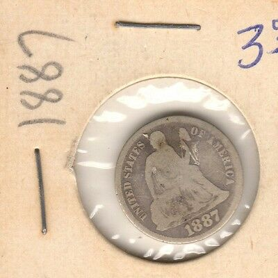 1887-S Seated Liberty Dime - Nice quality coin