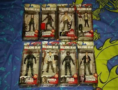 McFarlane Toys AMC's The Walking Dead Lot Of 8 Factory Sealed Figures