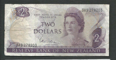 New Zealand 1977-81 2 Dollars P 164d Circulated
