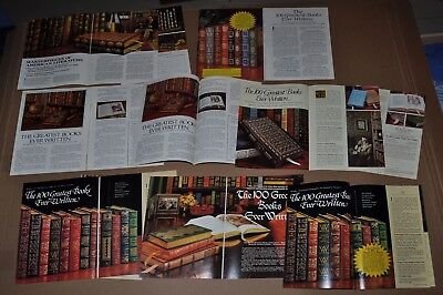 1976-81 EASTON PRESS advertisements x8 Greatest Books Ever Written, Masterpieces