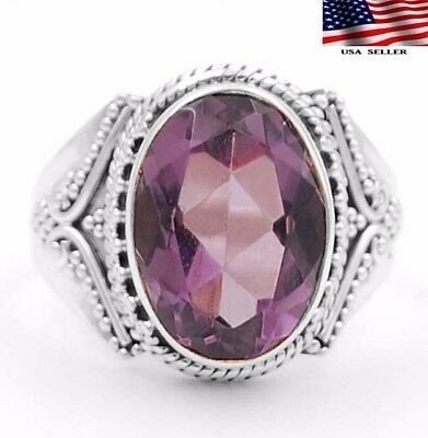 6CT Amethyst  925 Solid Genuine Sterling Silver Ring Jewelry Sz 9