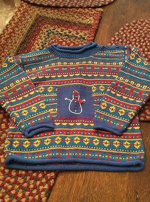 Hanna Andersson Unisex Christmas Sweater Size 100