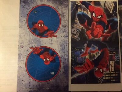 16 Spiderman Valentines Day cards and Envelopes