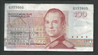 Luxembourg 1986 100 Francs P 58a Circulated