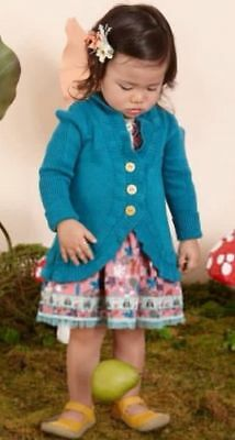 New Matilda Jane Once Upon A Time Castles Teal Cardigan Sweater 3-6mon / 6-12mon