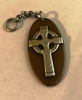 JAMES AVERY RETIRED CELTIC CROSS PENDANT SILVER ON COPPER FROM 1970's