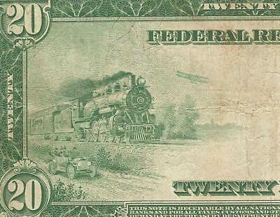 LARGE 1914 $20 DOLLAR BILL FEDERAL RESERVE NOTE CURRENCY BIG PAPER MONEY Fr 977