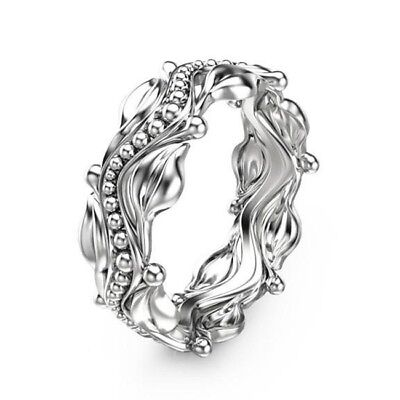 Women Men 925 Silver Ring Fashion Wedding Engagement Party Gift Prom Size 6-10