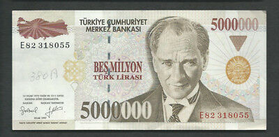 Turkey 1970 (1997) 5000000 (5,000,000) Lira P 213 Circulated