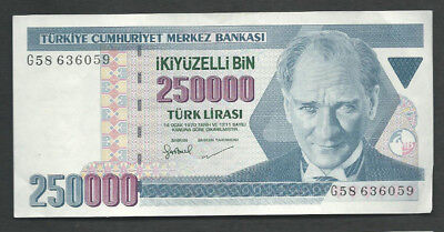 Turkey 1970 (1998) 250000 (250,000) Lira P 211 Circulated
