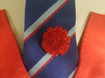 Pretty Ponies (UK) false vest, tie and red lapel carnation