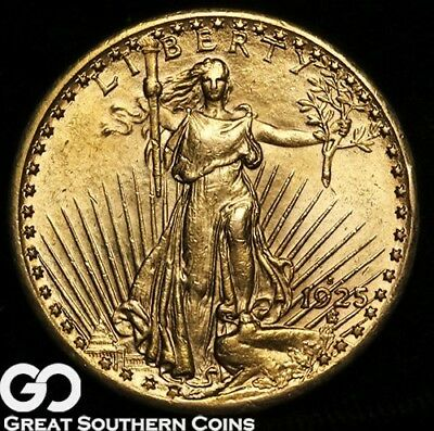 1925-S Double Eagle, $20 Gold St Gaudens, Brilliant Uncirculated+++ Key Date!