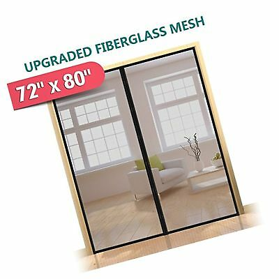 72x 80 hands free magnetic screen door for french doorssliding upgraded 72x80 magnetic screen door for french door durable fiberglass planetlyrics