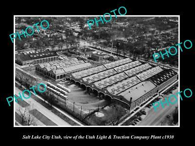 Old Large Historic Photo Of Salt Lake City Utah, The Light & Traction Plant 1930