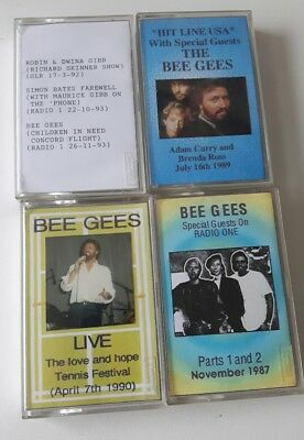 CASSETTE TAPES Bee Gees GIBB Interviews 1987 - 1993 + love and hope 1990 4 Tapes