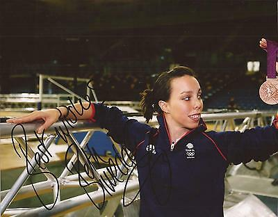 GYMNASTICS * BETH TWEDDLE SIGNED 10x8 MEDAL CELEBRATION PHOTO+COA *TEAM GB*