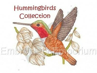 Hummingbirds Collection - Machine Embroidery Designs On Cd