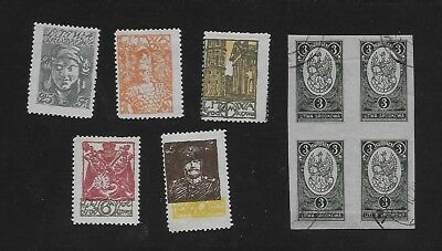 CENTRAL LITHUANIA small group of early MH & Used issues