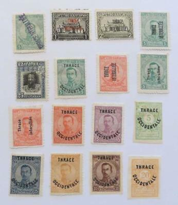 Thrace 1920 Allied and Greek Occupation small collection unused