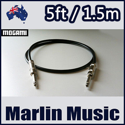 Mogami 2524 5ft 1.5m Guitar Bass Instrument Cable [SS]