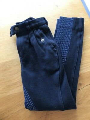 Equetech Junior Grip Seat Jodhpurs Navy