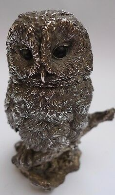 VINTAGE STUNNING STERLING SILVER  OWL BY COUNTRY ARTISTS - 4 1/2 inch 1992