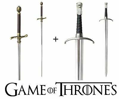 GAME OF THRONES - LONGCLAW + NEEDLE SIBLING BUNDLE (with FREE wall plaques)