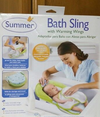 NEW Summer Infant Baby Bath Sling with Warming Wings