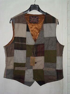 Shire Classics Gents Tweed Waistcoat Quality Item Different Size 44/46 One Only
