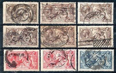 Card of Various Sea Horses to 10/-, Used