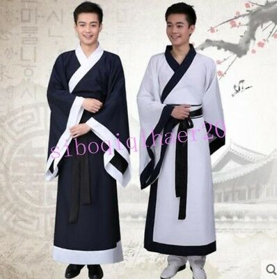 Ancient Mens Chivalry Clothing Costume retro Robe Stage Dress School Clothes Hot