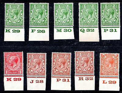 Card of George V Block Cypher Controls Unmounted Mint