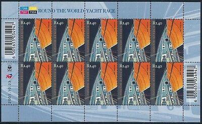 "South Africa 2001 ""Round the World Yacht Race"" Sheet of (10) x R1.40 stamps"