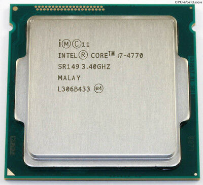 Intel 84W CPU i7-4770 HASWELL 3.4-3.9 GHz LGA1150 22nm - Excellent Working Pull