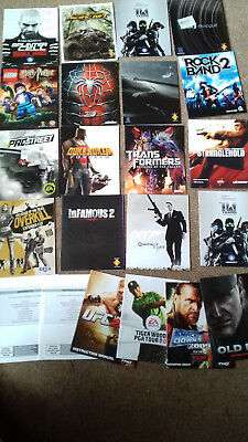 Ps3 Games Console Manuals No Artwork Covers. No Disc. No Cases. All As Shown