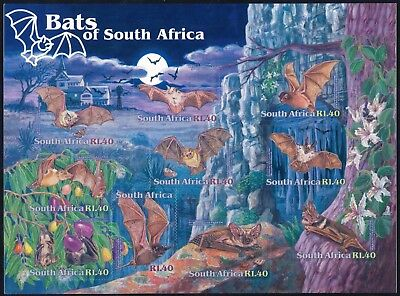 "South Africa 2001 ""Bats"" Sheet of (10) x R1.40 Self-Adhesive stamps"