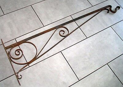 Huge Victorian Wrought Iron House/Pub/Shop Hanging Bracket For Sign