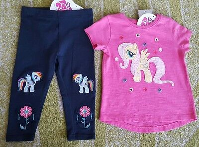 Next girls My little pony leggings and top t-shirt bundle 9-12 months