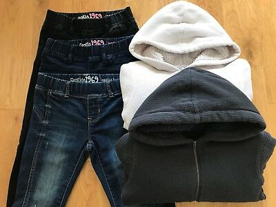 Girls Clothes Bundle Gap Legging Jeans Cozy Lined Zip Up Hoodies Age 6- 7 Years