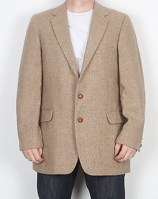 "Harris Tweed 42"" Jacket Blazer Beige (FDE) Medium Large"