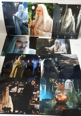 """JOB LOT Christopher Lee 10"""" x 8"""" Photographs x 10 -  LORD OF THE RINGS"""