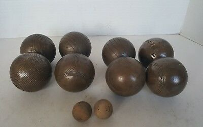 Vintage Steel/Metal French Outdoor Boules with jacks