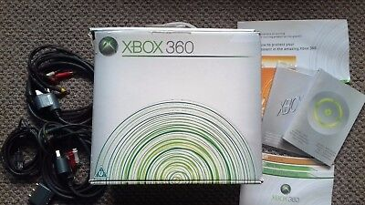 Xbox 360 'EMPTY BOX ONLY' + Manuals & Spare Cables