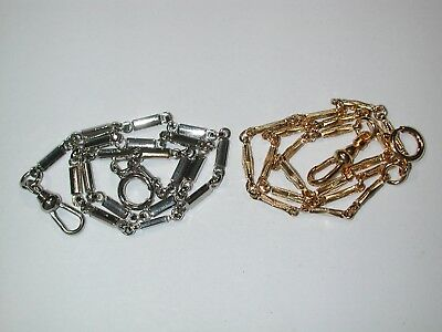 Watch Collectors Pair of New Pocket Watch Chains with Good Swivels. 135M
