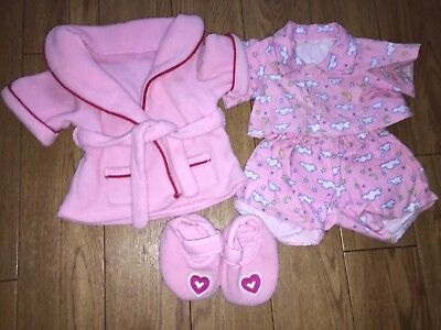 Build A Bear Clothes. Pyjama, dressing gown, slippers bundle