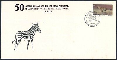 "South Africa 1976 ""National Parks Anniversary"" illustrated Commemorative Cover"
